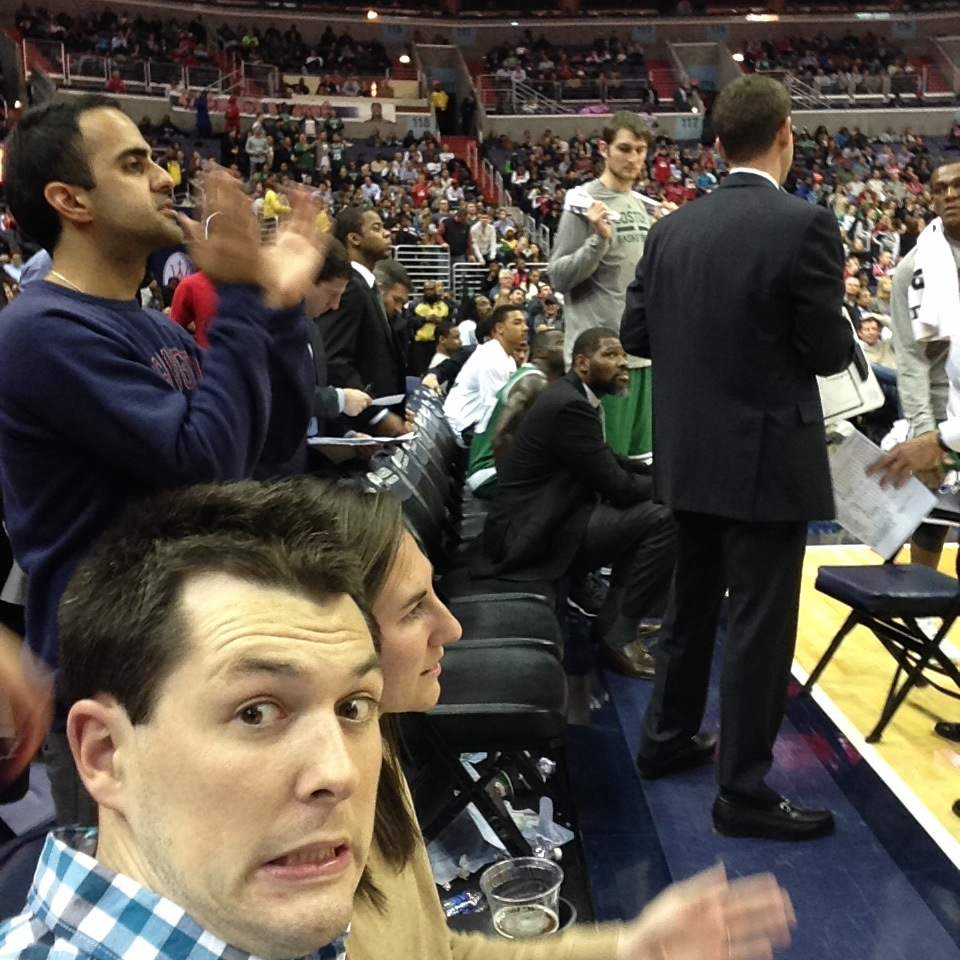 me courtside